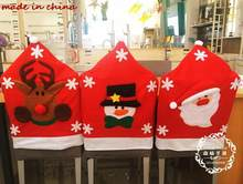 2018 NEW Year Hot Christmas Snowman Santa Claus Elk Party Chair Covers Sets Decoration ornaments enfeites de natal papai noel(China)