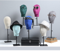 Colorful Customized Fabric Head Mannequin Mankeni With Base On Promotion