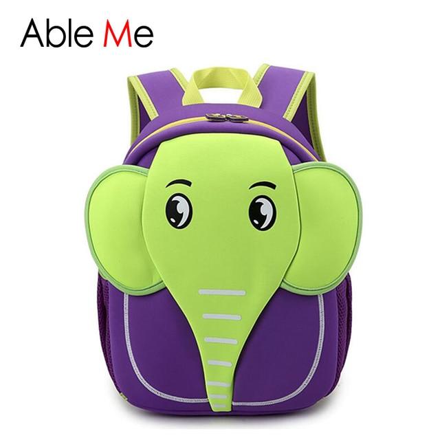 Kawaii Elephant Children's School Bag Boys and Girls School Bags Kids Cute 3D Cartoon Backpacks New 2017 Little Kids Backpack