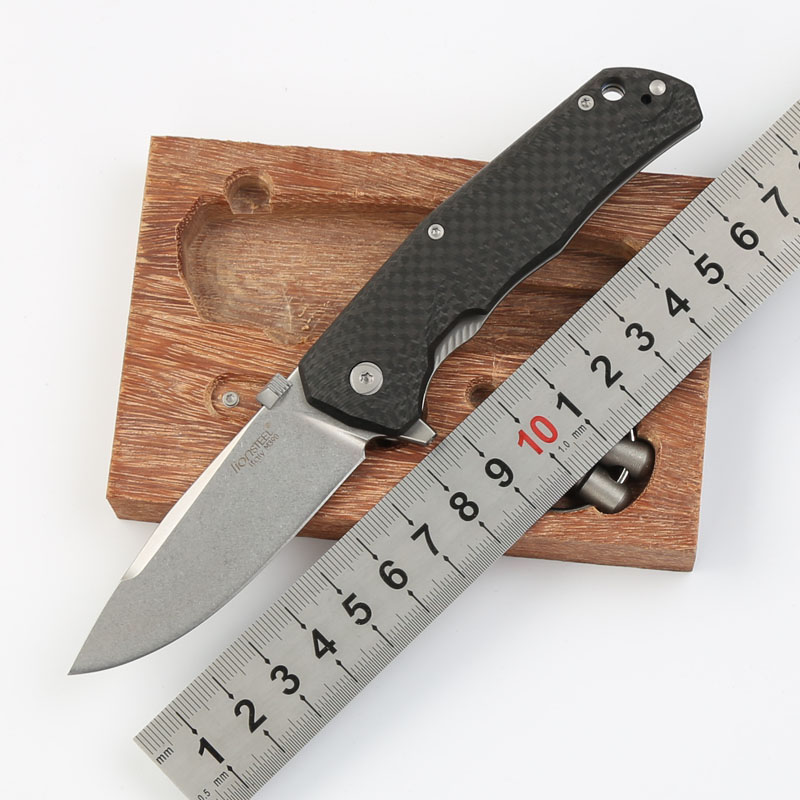High quality new tactical M390 folding knife Carbon fiber + titanium handle 60HRC outdoor camping EDC hunting utility knives high quality army survival knife high hardness wilderness knives essential self defense camping knife hunting outdoor tools edc