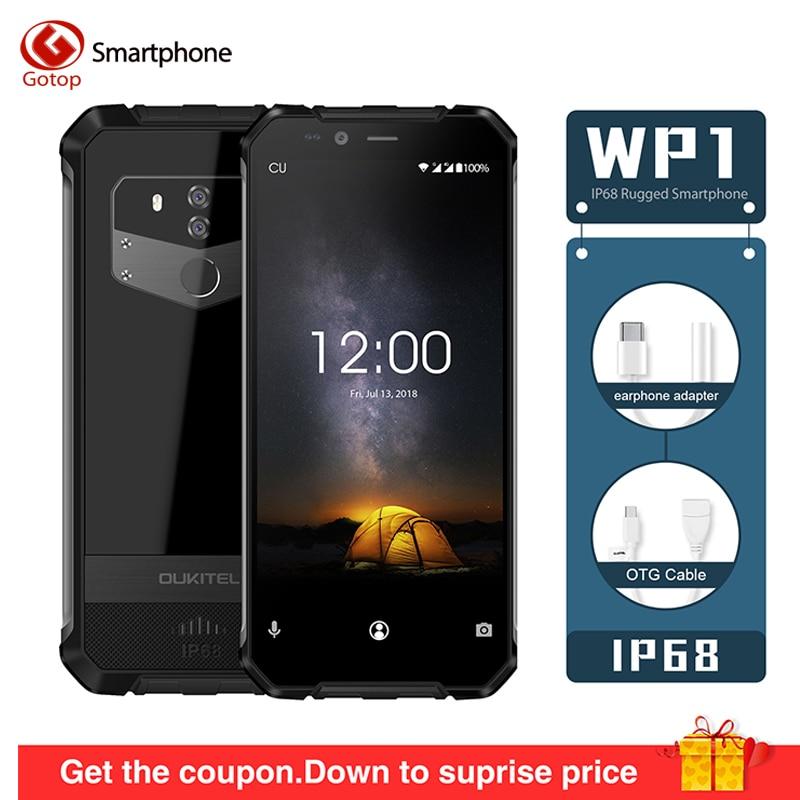 OUKITEL WP1 IP68 étanche Android 8.1 5.5 ''FHD Octa Core 4GB RAM 64GB ROM MTK6763 5000mAh 9 V/2A téléphone portable de charge sans fil