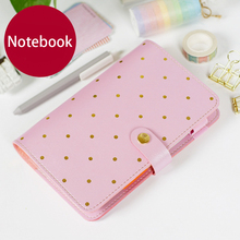 Kawaii Leather Notebook A5 A6 Travelers Notebook Diary Portable Journal Dot Notebook Planner Agenda Organizer Caderno