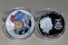 Free Shipping 10pcs/lot,Downies launch Tales From the Crypt four-coin,2016 Kiribati headless knight Silver Coin