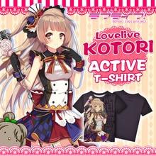 Japanese Anime Love Live! T-shirt Minami Kotori Polyester T Shirt Lovelive Summer Active Animation Men Women Clothes