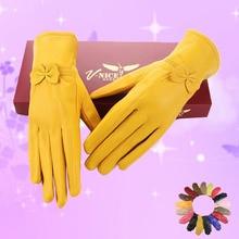 Lady New Arrival Fashion font b Gloves b font Women s Outdoor Sheepskin Mittens font b