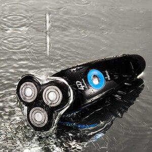 Image 3 - Paiter 4d 전기 면도기 남성 수염 면도기 면도기 충전식 빠른 충전 1.5 시간 tripe head flexible
