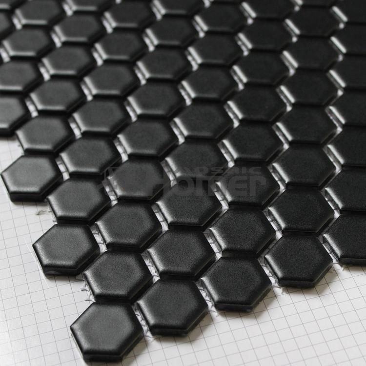 xmm hexgono preto fosco cermica do banheiro mosaico mosaico parede de azulejos