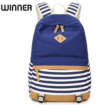 College Striped Women Backpack Daily Book Bags Fringe Bagpack 15.6 inch Computer Student Bag for Teenagers Girls