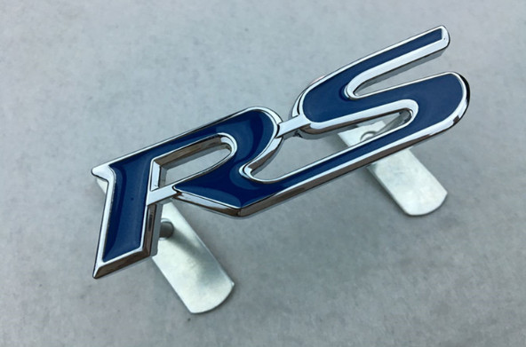 3D RS Badge Metal Red Car Front Grille Grill Emblem Sticker For Ford Mazda Kia VW For Chevrolet For Toyota Honda 3d ss car front grille emblem badge stickers accessories styling for jaguar honda chevrolet camaro cruze malibu sail captiva kia