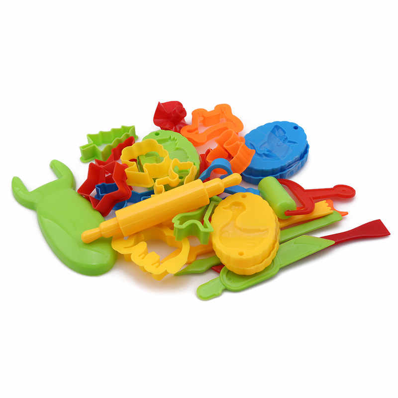 23pcs Educational Plasticine Mold Modeling Clay Kit Slime Toys For Child Plastic Play Dough Tools Set DIY Kid Cutters Moulds Toy