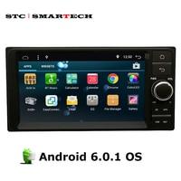 SMARTECH 2 Din Araç PC Tablet 7 inç Android 6.0.1 OS dört Çekirdekli Toyota Evrensel destek 3G WiFi Bluetooth OBD için GPS Navigasyon