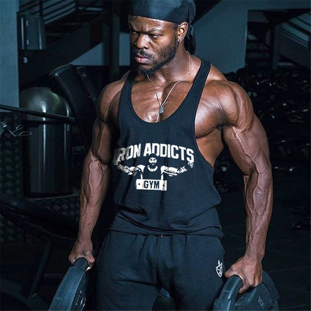 2018   Tank     Top   Fitness Men CT Iron Addicts GYM Bodybuilding Vest Cotton Singlets Muscle Shirts Brand Undershirt Clothing
