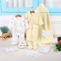 100% algodão de Alta qualidade 21 pçs/set New born roupa interior roupas conjuntos com cobertor do bebê Seguro macio newborn dom conjunto de roupas