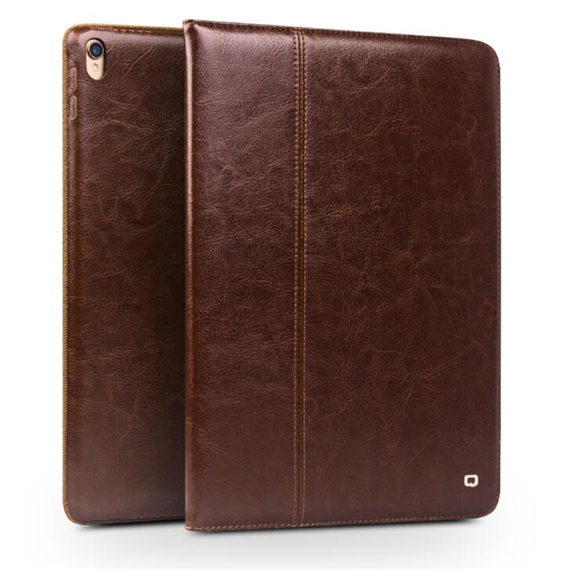 QIALINO Genuine Leather Bag Case for iPad Pro 10.5 Ultrathin Flip Fashion pattern Stents Dormancy Stand Cover Card Slot 10.5inch for ipad pro 10 5 2017 tablet case genuine leather flip stents dormancy stand cover for funda wallet cases qialino