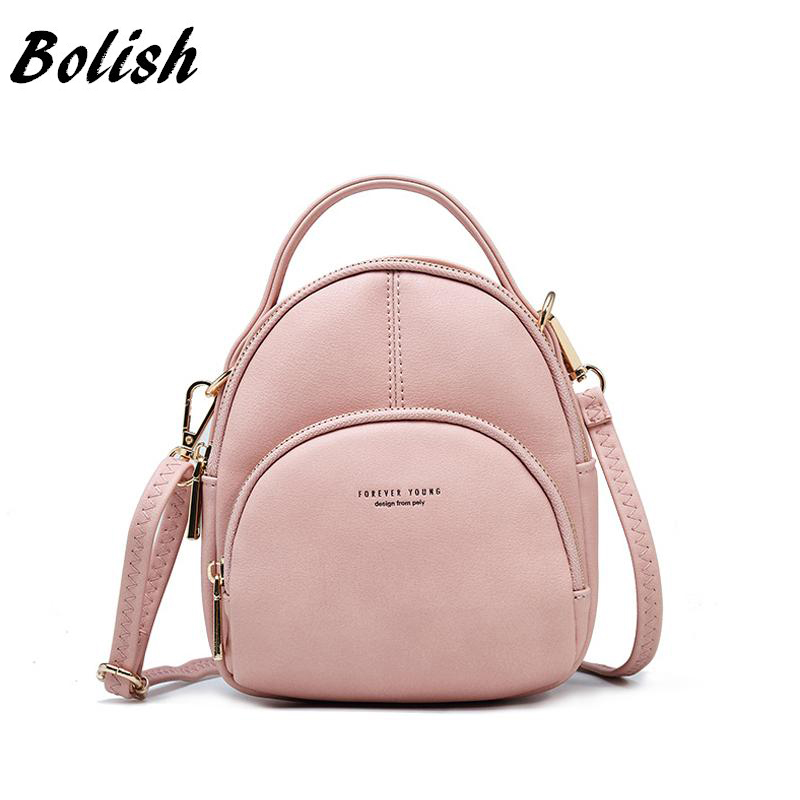 Multifunction Two-use Shoulder Bag  Small Fashion Women Backpack  Soft Candy Female Bags Rucksack for GirlsMultifunction Two-use Shoulder Bag  Small Fashion Women Backpack  Soft Candy Female Bags Rucksack for Girls
