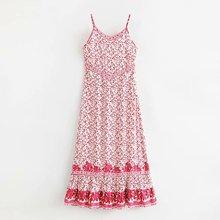 Модные женские LJ60-60220 в европейском и американском стиле; модное розовое платье на бретельках с цветком сливы