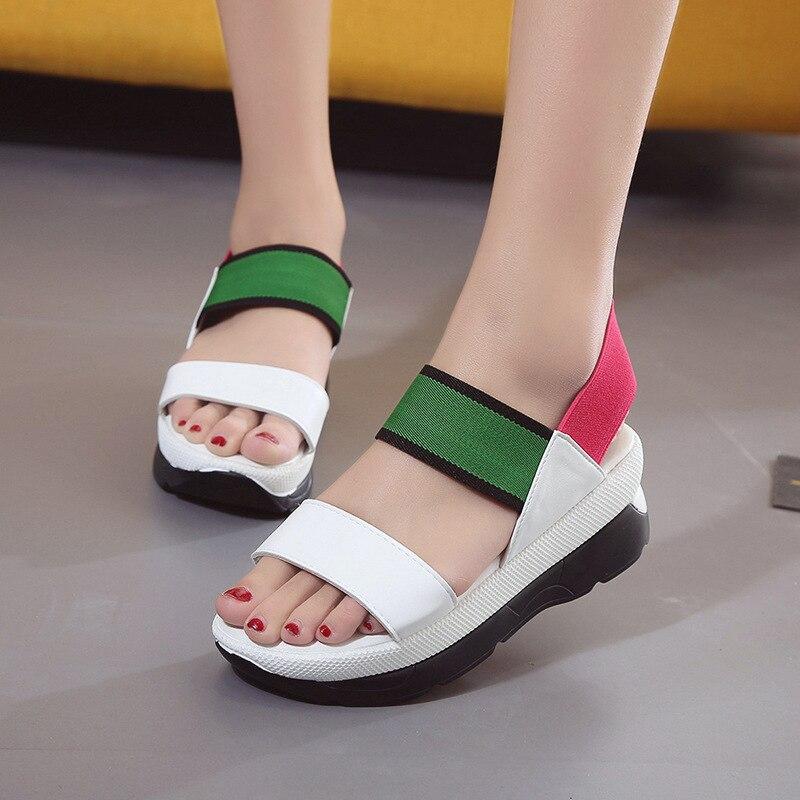 Nueva 2017 Gancho Zapatos Loop Colores 3 Gladiador Wedge 35 Tamaño PTwOZukXi