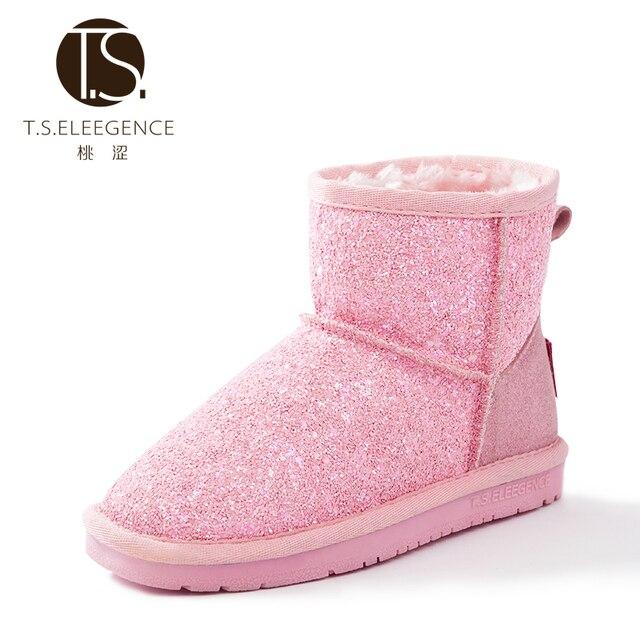 Mode hiver bébé filles enfant bottes neige chaussures chaudes rose IKbYzhZ6wM