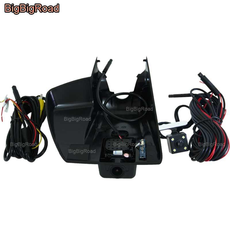 BigBigRoad For Ford Mondeo MK5 2013 2017 Low Configured Car wifi DVR Video Recorder Dash Cam Car black box Dual Cameras lens