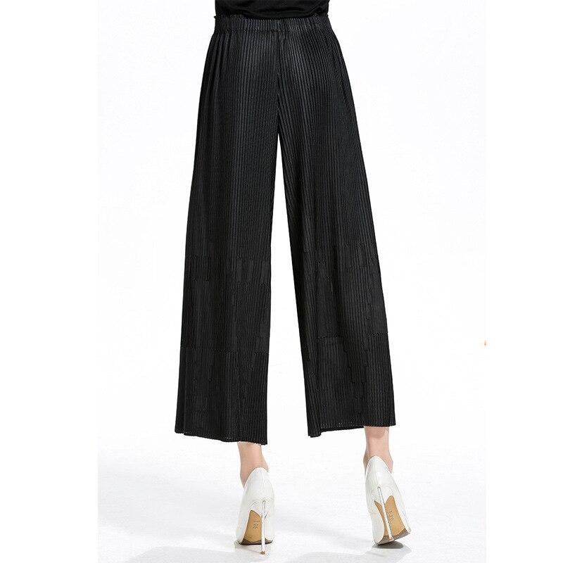Pantalon de jambe taille haute Jacquard 2018 Original
