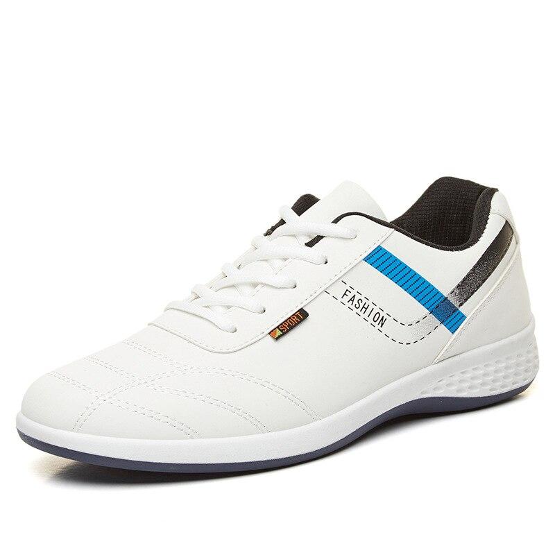 Mode Noir blanc Casual Hommes En Printemps Bateau Sneakers 652 bleu Luxe De Mâle Cuir Mocassins Chaussures Nouveau Krasovki Marque vnN8mwO0
