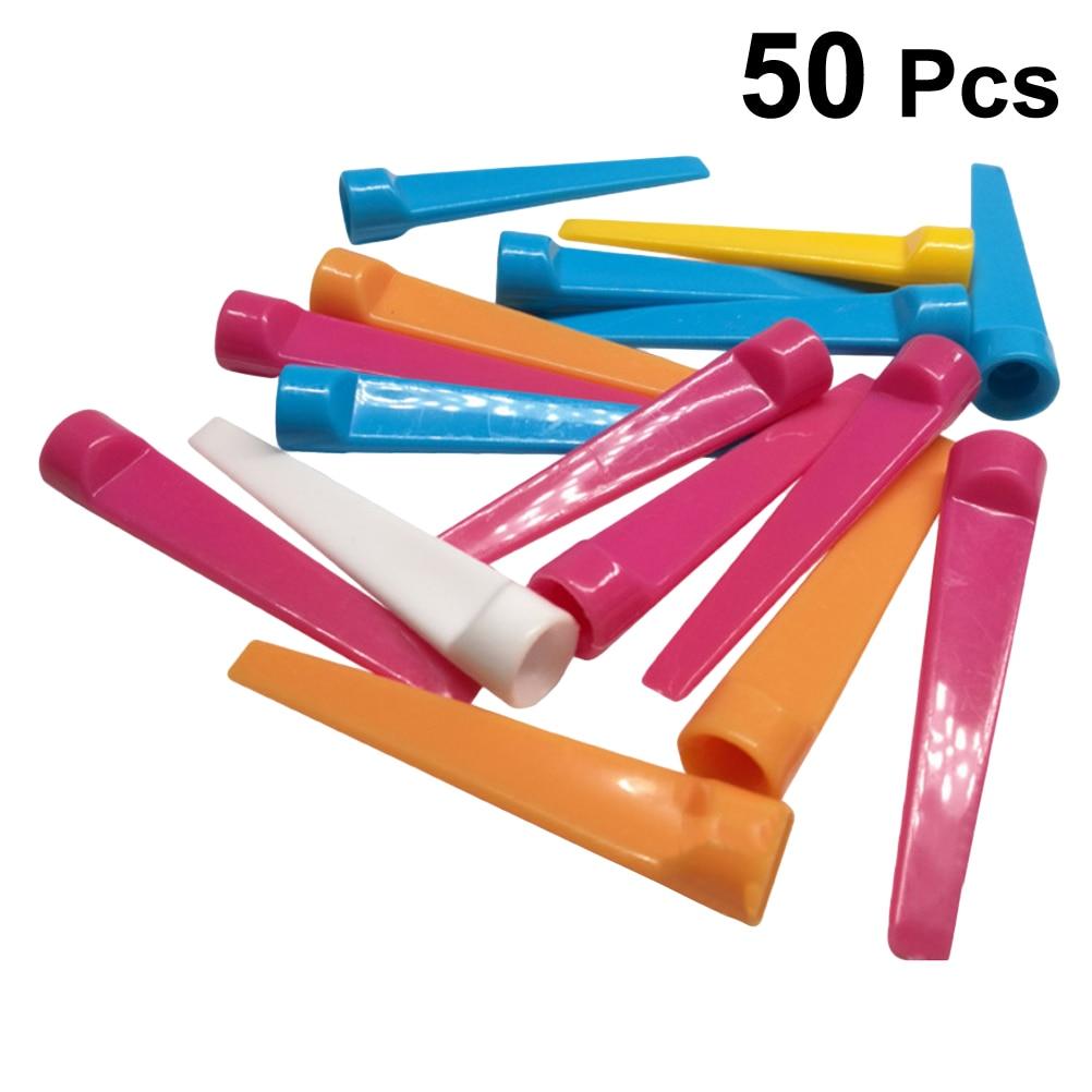 50 Pcs Golf Tees Premium Reuseable Durable Plastic Supplies Accessories Golf Mat Tees Driving Range Equipment Training Tees