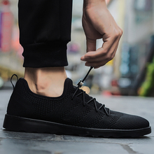 цены New 2018 Spring/autumn Casual Air Mesh Man Shoes Elastic Band Breathable Simple Light Shoes Calzado Male Size 39-44 Black Fd3