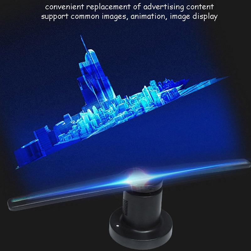 3D hologramme publicité affichage ventilateur LED holographique imagerie 3D œil nu ventilateur LED lumière 3d affichage publicité logo lumière décor