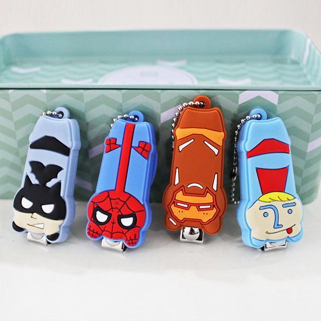 171 Dibujos Animados Creativos Kawaii Superhéroes Moda Superman Iron Man Batman Spider Man Uñas Cortaúñas Herramientas Dedo Del Pie