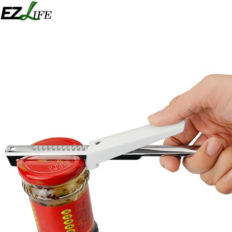 Adjustable Jar Lid Opener Stainless Steel Jar Can Opener Practical Can Seal Lid Remover Bottle Adjustable Jar Lid Opener LPT9117