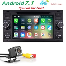 Android7.1 2Din Dash GPS Car Stereo Radio DVD Player For Ford Focus Mondeo S C-Max Connect Fiesta Fusion Galaxy Kuga Transit+Cam