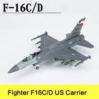 Prenoy Military Alloy Airplane Model Fighter F16C/D US Carrier Second World War Classical Flighter Diecast Scale Model Toys 1:72