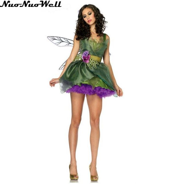 fea03f3b8a Women s Cinderella Princess Costume Adult Purple Elf Princess Dress Fairy  Tale Cosplay Insect Costume Sexy Girls Skirt with Wing