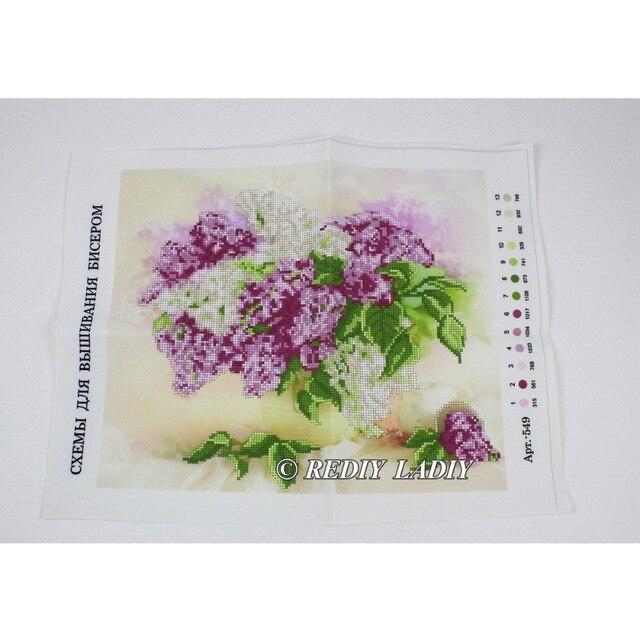 30.5×3 6cm Précis imprimé cristal perles kit de broderie fleurs perlage artisanat couture bricolage perles point de croix 8