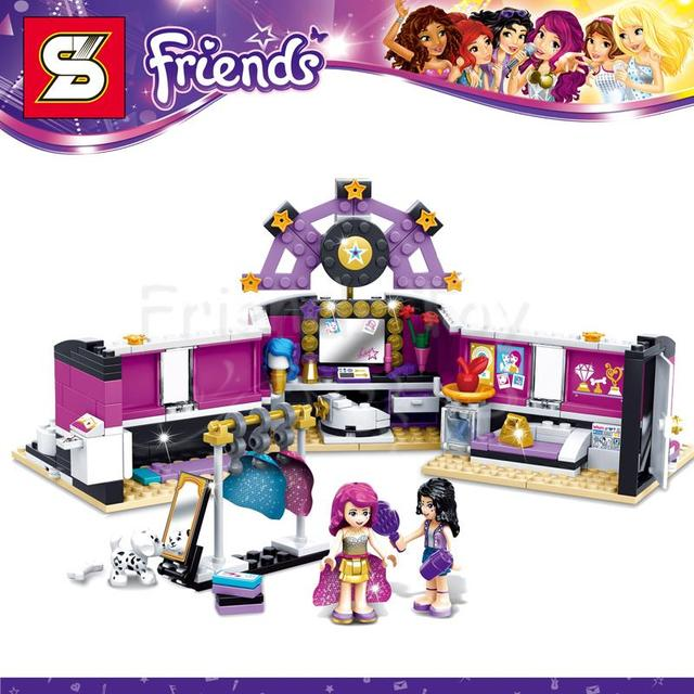 312pcs girls friends set pop star dressing room livi emma building brick block figure toy - Salon de coiffure lego friends ...