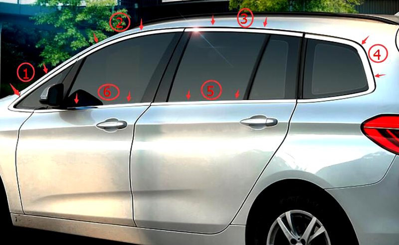 12 PCS Stainless Steel Exterior Door Window Mouldings Without Pillar For BMW 2 Series Active/ Gran Tourer F45 F46 2015-2018 cobuild intermediate learner's dictionary