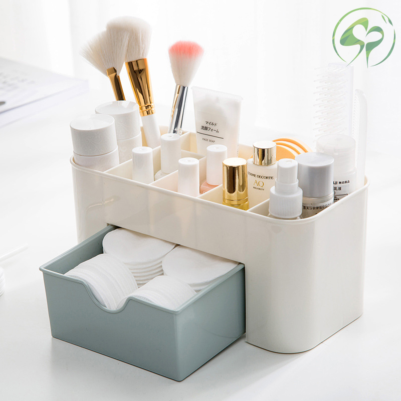 Plastic Storage Box Makeup Organizer Case Brush Holder Office Sundries Make Up Container Boxes