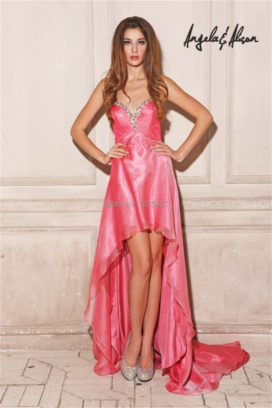 Buy Prom coral dresses high low pictures trends