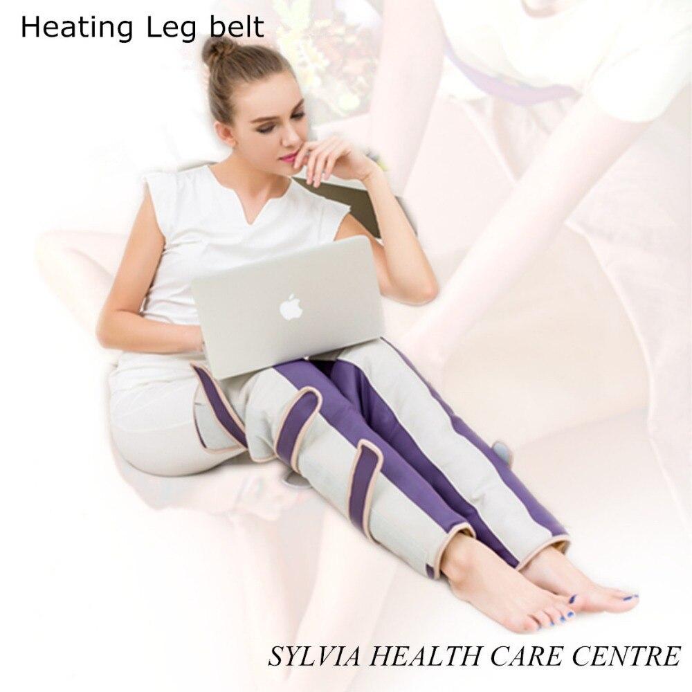 2017 Heating Vibrating Leg slimming belt knee thermal heated Electric slimming leg vibration free shipping