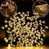 72ft 22m 100 LED String Light Ambiance Lighting Solar Fairy String Lights For Outdoor Gardens Homes