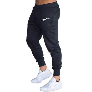 New Men Joggers Brand Male Trousers Casual Pants Sweatpants Jogger grey Casual Elastic cotton gyms Fitness Brand logo Sweatpants Брюки
