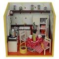 11114 Кухня 4D diy миниатюрный кукольный домик кукольный дом Мебель бесплатная доставка
