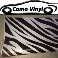 Car Styling Zebra Camouflage Vinyl Wrap Zebra Pattern Camo Wrapping Sticker Car Motorcycle Body Cover Sticker Air Bubble Free