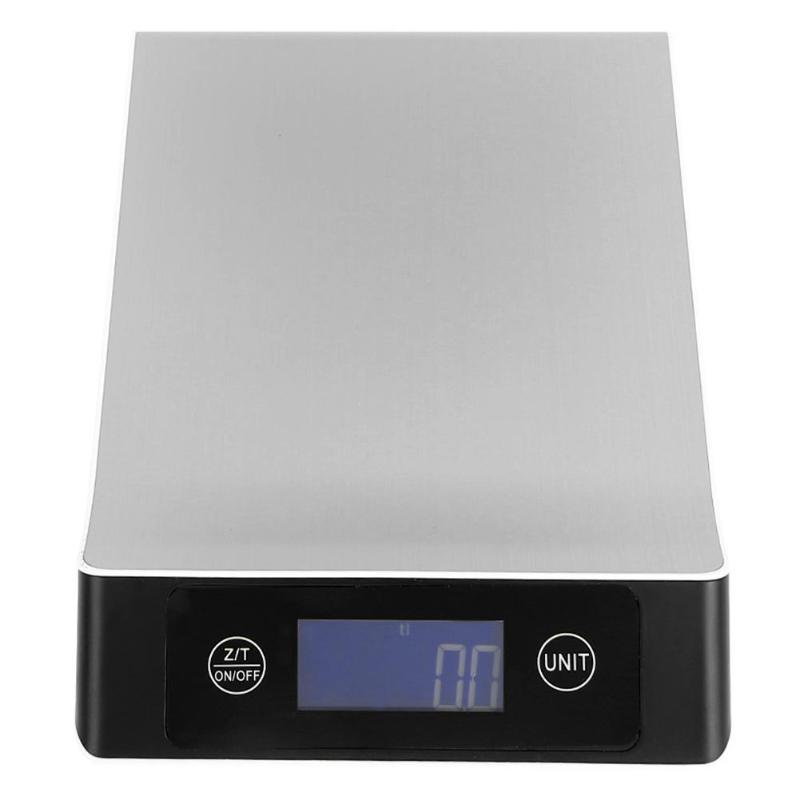 15KG 1g LCD Digital <font><b>Kitchen</b></font> <font><b>Scale</b></font> 15kg Big Food Diet <font><b>Weight</b></font> Balance Slim Stainless Steel Electronic <font><b>Scales</b></font> Weighting Tool E5M1 image