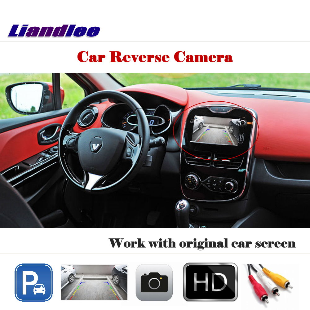 Liandlee Auto Reverse Rear Camera For Renault Clio IV 2012~2018 / HD CCD Back Parking Camera Work with Car Factory Screen-in Vehicle Camera from Automobiles & Motorcycles    1