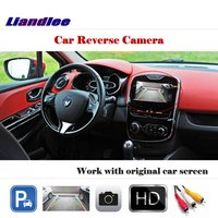 Liandlee Auto Reverse Rear Camera For Renault Clio IV 2012~2018 / HD CCD Back Parking Camera Work with Car Factory Screen
