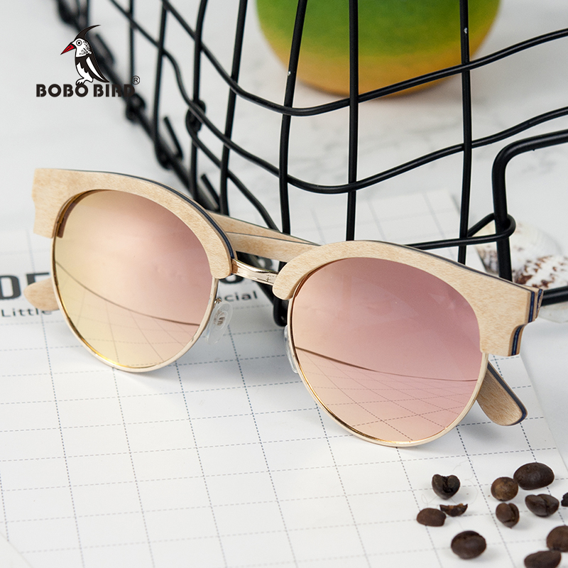 17947574585 BOBO BIRD Sunglasses Women Men Wooden Sun Glasses Summer Style beach Eyewear  in gifts Wood box Customize-in Sunglasses from Apparel Accessories on ...