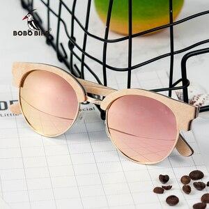 Image 1 - BOBO UCCELLO Occhiali Da Sole Degli Uomini Delle Donne Occhiali Da Sole di Legno di Stile di Estate spiaggia Occhiali in regali scatola di Legno Personalizza