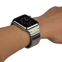 New Quality Black Silver Link Bracelet For Apple Watch Band 42mm 38mm Made By 316L Stainless