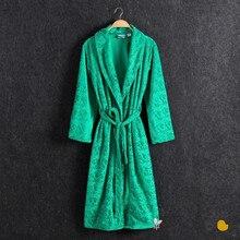 Robes Women Autumn And Winter Warm Flannel Gown Nightwear Women's Sleep Lounge Robes